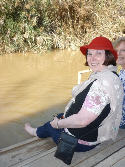Feet in the Jordan River